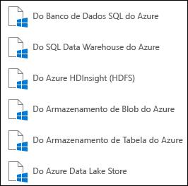 Obter dados do Microsoft Azure