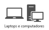 Laptops e áreas de trabalho