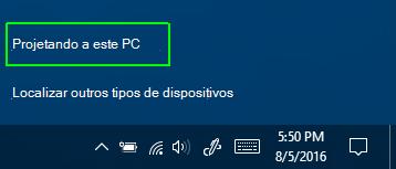 Projetando neste computador