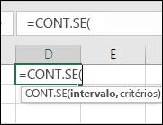 Sintaxe de fórmula como texto de focalização