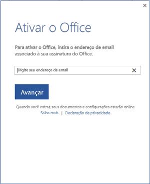 Ativar o Office