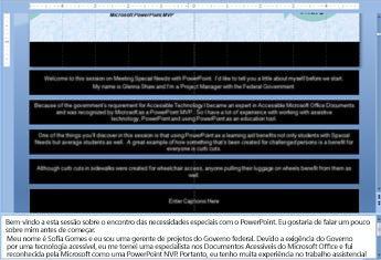 Digitando texto em um organograma