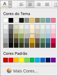 Escolhendo uma cor de fonte