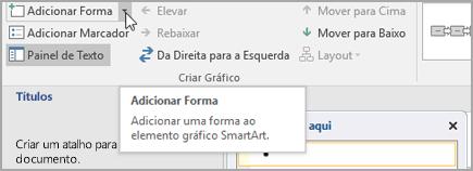 Adicionar uma forma a um elemento gráfico SmartArt