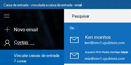 Escolha sua conta para enviar uma nova mensagem