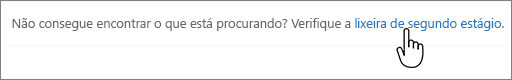 Link da Lixeira de segundo estágio do SharePoint 2016