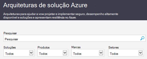 O site de soluções de arquitetura do Azure