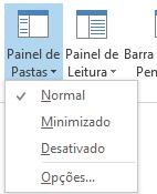 No menu Painel de Pastas, a opção Normal está selecionada.