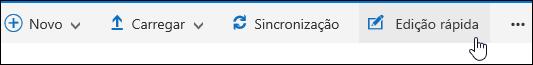 Use a edição rápida para modificar uma exibição personalizada de uma biblioteca de documentos
