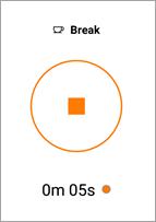 Pressione o botão Parar para encerrar uma quebra.