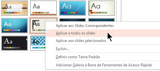 Aplicar a todos os Slides