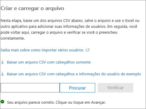 O arquivo CSV é verificado