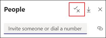 Você pode alterar as opções de participantes no painel Mostrar participantes.