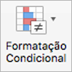 Botão de formatação condicional