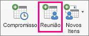 A opção Reunião realçada na guia Página Inicial.