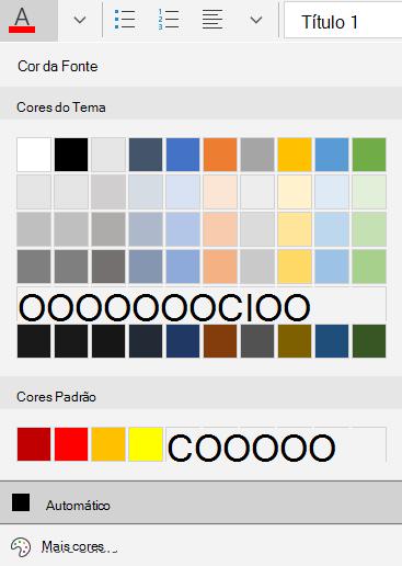 Opções de cor da fonte do email para Windows 10
