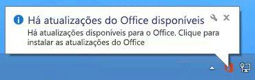 Há atualizações do Office disponíveis