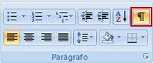 Botão Mostrar/Ocultar Formatação no grupo Parágrafo