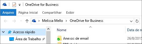 Cliente de área de trabalho antigo do OneDrive for Business