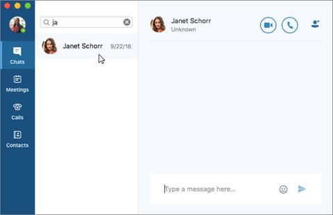 Retomar uma conversa de mensagem instantânea
