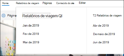 Menu do SharePoint mega