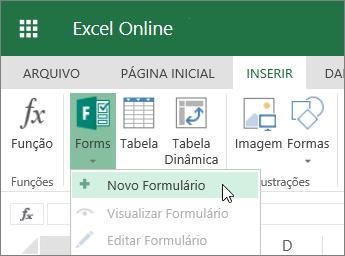 Formulários > Novo Formulário