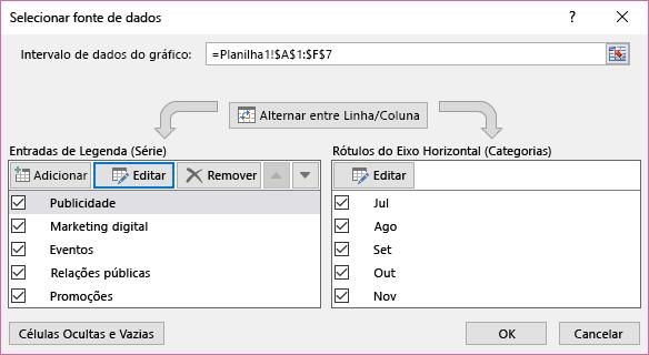 Caixa de diálogo Selecionar Fonte de Dados