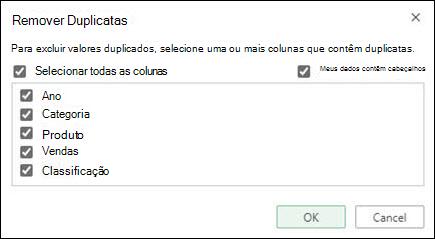Remova duplicatas no Excel Online do Data > Data Tools > Remover Duplicatas.