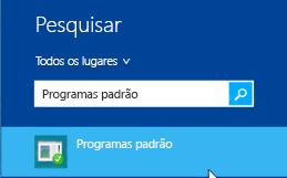 Captura de tela dos programas padrão