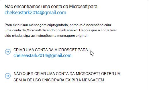 Criar uma conta da Microsoft
