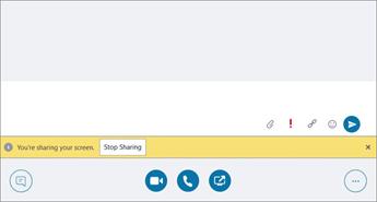 Compartilhamento de notificação em uma conversa de mensagem Instantânea