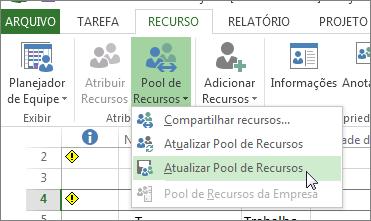 Atualizar pool de recursos após editar os recursos de um arquivo participante do compartilhamento