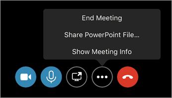 Encerrar o comando de reunião