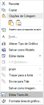 Menu de texto alt do PowerPoint Win32 Edit para gráficos