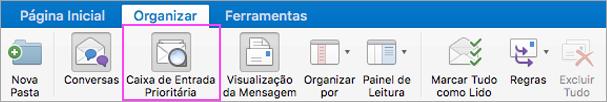A Caixa de Entrada Destaques ajuda a manter seu email organizado.