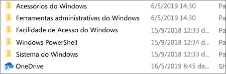 Uma captura de tela mostrando o aplicativo OneDrive no Explorador de Arquivos.