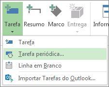 Imagem do comando Tarefa Recorrente