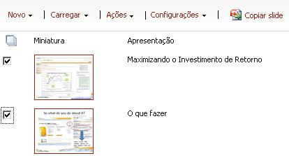 Biblioteca de slides de exemplo
