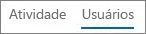 Captura de tela do modo de exibição Usuários no relatório Atividade do Yammer do Office 365
