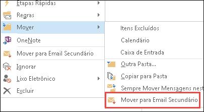 Mover para o Email secundário