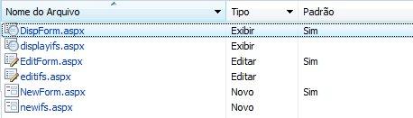formulários de lista do infopath para sharepoint
