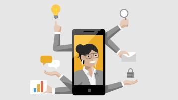 Ilustração de dispositivo móvel