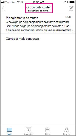 Toque no botão de membro para ver a página de membros