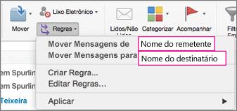 Regras: Mover mensagens...
