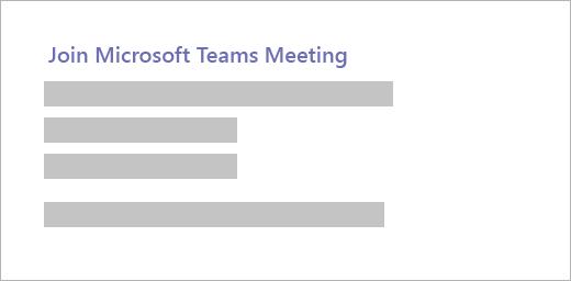 """Um hiperlink com a leitura de texto """"Ingressar em uma reunião do Microsoft Teams"""""""