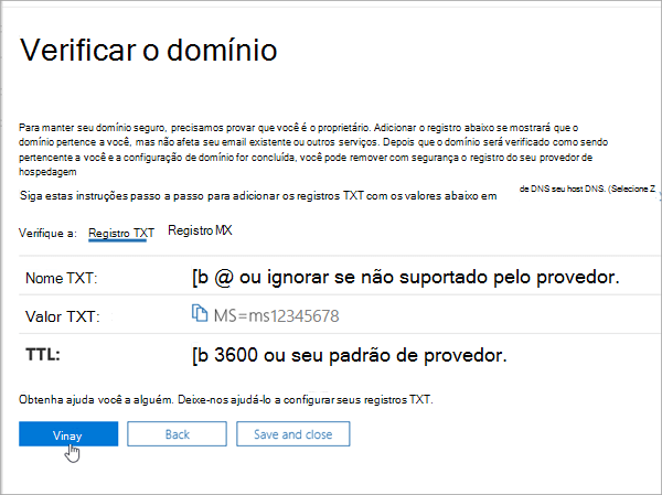 OVH verificar seu domínio no Office 365_C3_201769202357