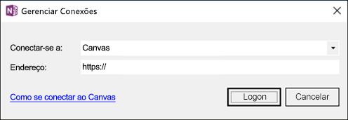 Captura de tela da caixa de diálogo Gerenciar Conexões.