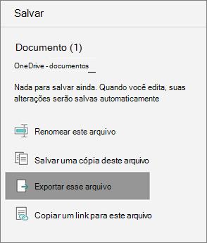 Exportar este arquivo