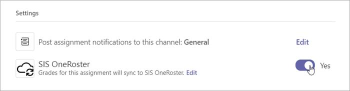 Selecione o botão de alternância de notas em configurações e, em seguida, alterne para Sim.