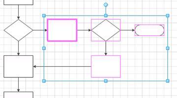 Selecione as formas em um subprocesso